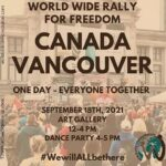 Vancouver BC World Freedom Rally September 18 2021